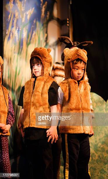 preschool theater play - bear suit stock pictures, royalty-free photos & images