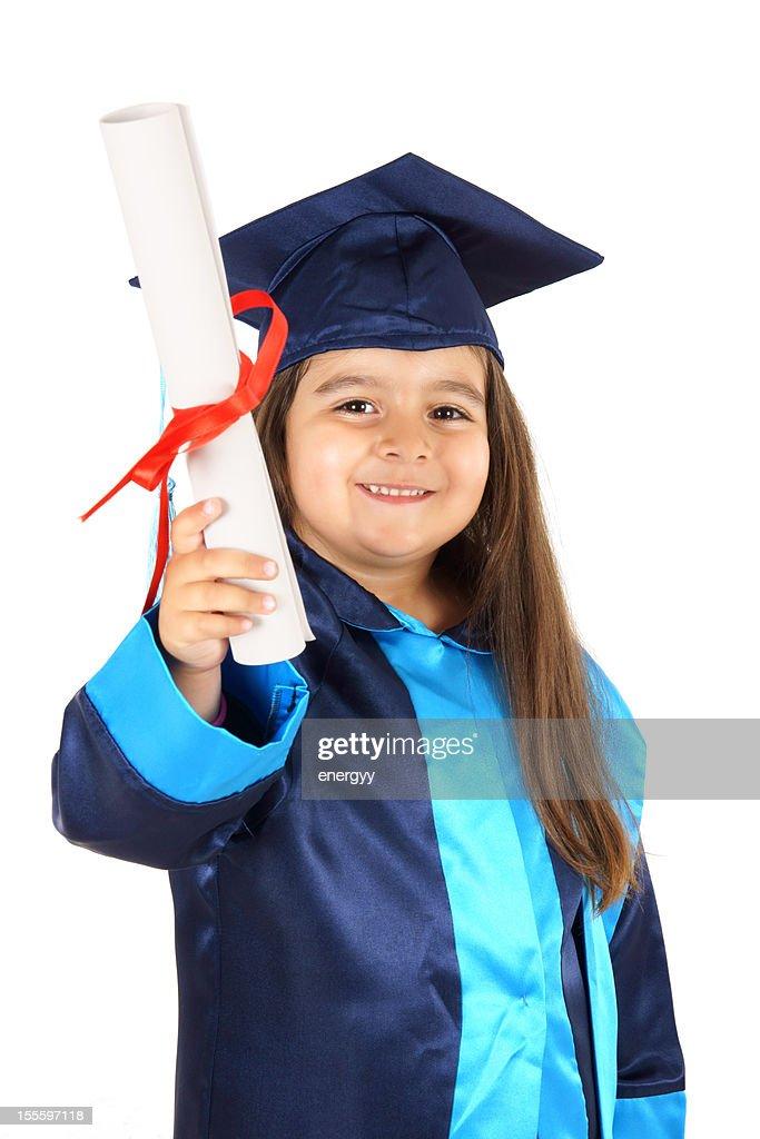Preschooler Wearing Graduation Gown Stock Photo   Getty Images