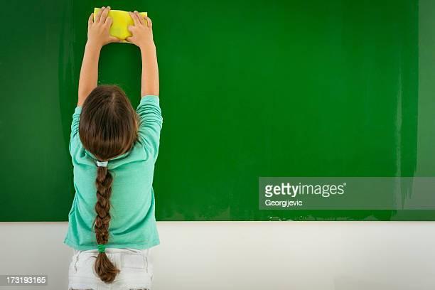 Preschooler (幼稚園児)ワイピング黒板
