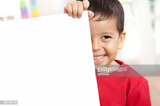 Preschoolers and Placard