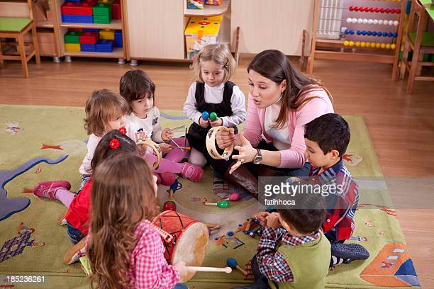 Preschoolers and Teacher