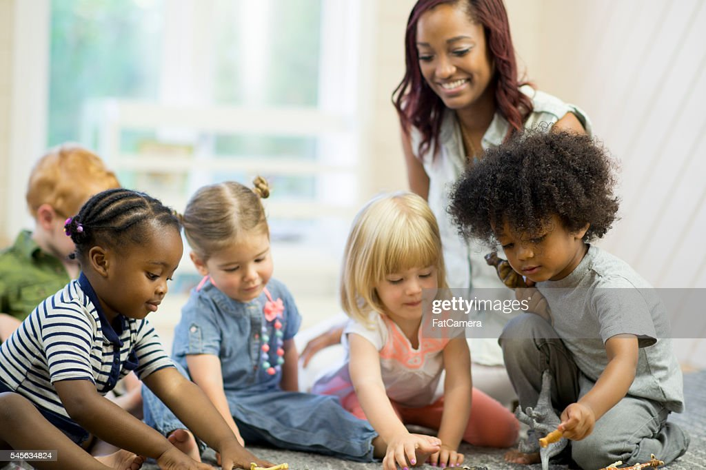 Preschoolers Playing Together : Stock Photo