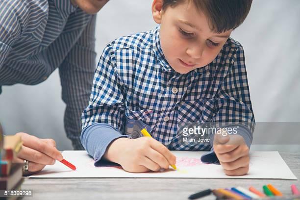 Preschoolers Studying