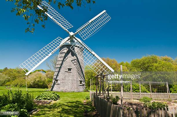 prescott farm windmill - old windmill stock photos and pictures