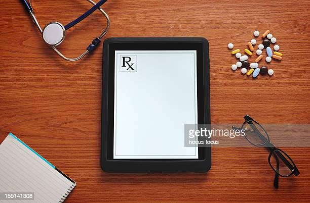 Rezept auf tablet-computer