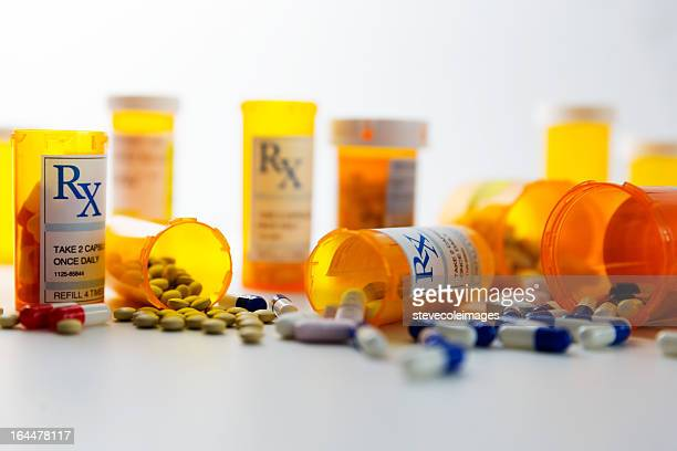 prescription pills - drugs stock photos and pictures