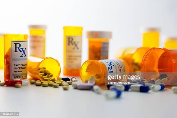 prescription pills - bottle stock pictures, royalty-free photos & images