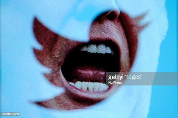 US presdient Donald Trump and the Twitter logo are seen in this photo illustration on December 1 2017