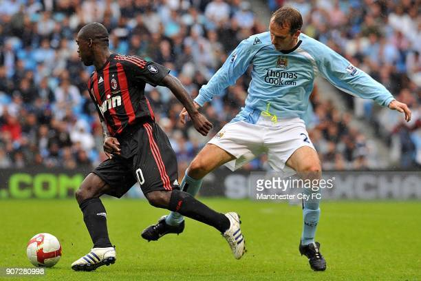 PreSeason Friendly Manchester City v AC Milan City of Manchester Stadium Manchester City's Dietmar Hamann and AC Milan's Clarence Seedorf battle for...