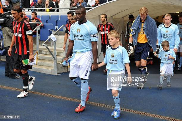 PreSeason Friendly Manchester City v AC Milan City of Manchester Stadium Manchester City captain Micah Richards and AC Milan captain Paolo Maldini...