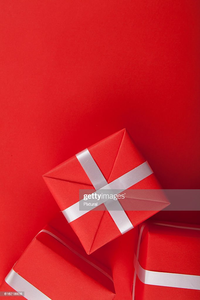 Present  box  with copy space : Stock Photo