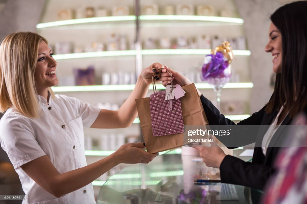 A present for our loyal customer! : Stock Photo