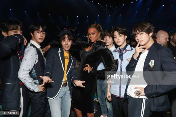 AWARDS Presentation 2018 BBMA's at the MGM Grand Las Vegas Nevada Pictured BTS Tyra Banks