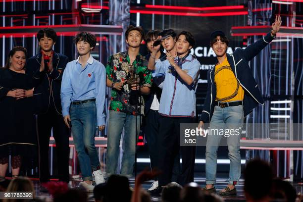 AWARDS Presentation 2018 BBMA's at the MGM Grand Las Vegas Nevada Pictured BTS Winners of Top Social Artist