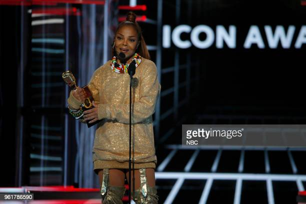 AWARDS Presentation 2018 BBMA's at the MGM Grand Las Vegas Nevada Pictured Janet Jackson Recipient of Icon Award