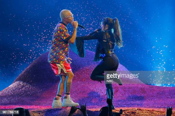 AWARDS Presentation 2018 BBMA's at the MGM Grand Las Vegas Nevada Pictured Pharrell Williams Camila Cabello