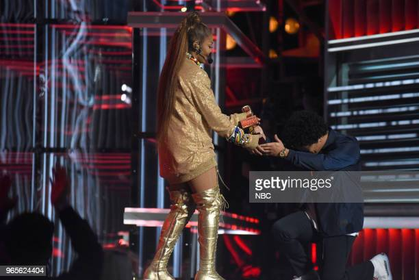 AWARDS Presentation 2018 BBMA's at the MGM Grand Las Vegas Nevada Pictured Janet Jackson Bruno Mars