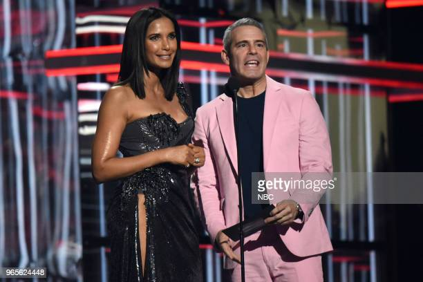 AWARDS Presentation 2018 BBMA's at the MGM Grand Las Vegas Nevada Pictured Padma Lakshmi Andy Cohen