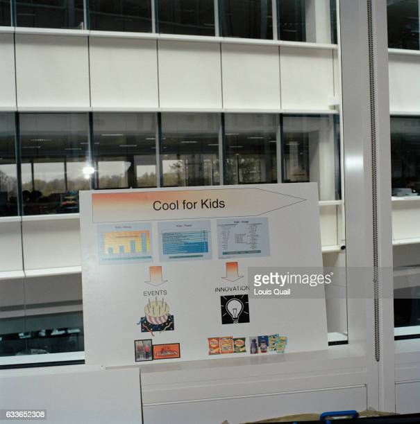 Presentation board in the marketing department office at Glaxo Smith Kline Brentford From the series 'Desk Job' a project which explores...