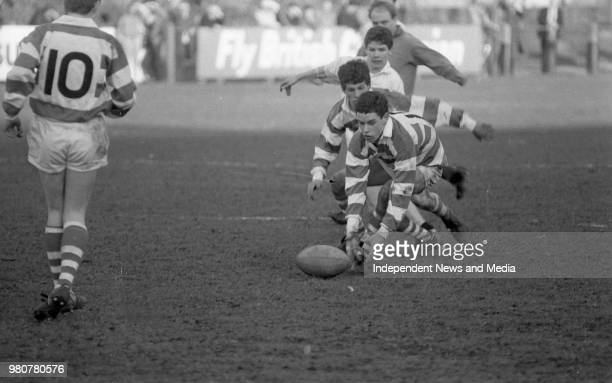 Presentation College Bray V Blackrock College in the Rugby Junior Cup final in Donnybrook circa March 1987