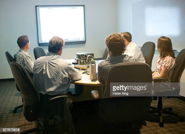 Presentation in meeting room