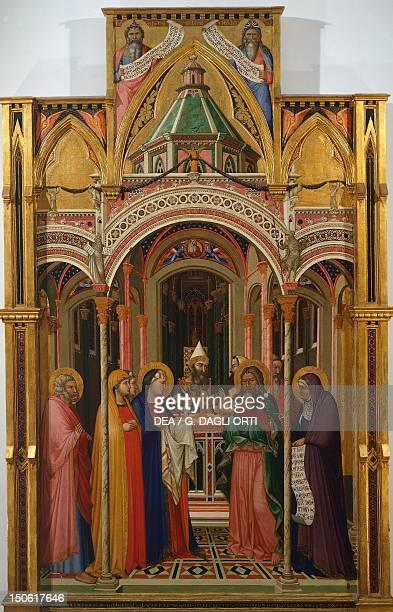 Presentation in the Temple by Ambrogio Lorenzetti tempera on wood 257x168 cm