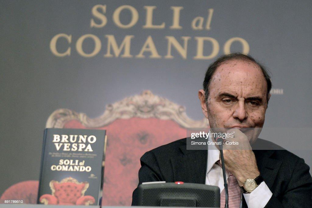 Presentation of Bruno Vespa's book ' Soli al Comando, at the Tempio di Adriano, on December 13, 2017 in Rome, Italy.