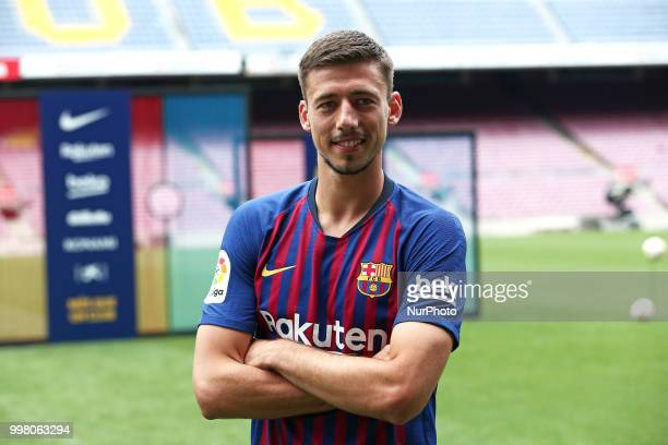 presentation of Clement Lenglet as a new player of FC Barcelona on 13th July in Barcelona Spain