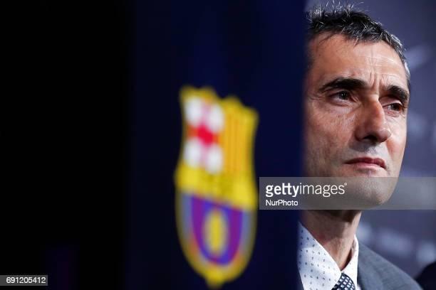 Presentation of Ernesto Valverde as new coach of FC Barcelona in Barcelona on june 01 2017