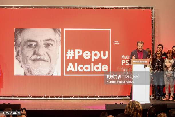 Presentation of former basketball coach Pepu Hernandez as candidate for the PSOE's primary elections for mayor of Madrid on February 03 2019 in...