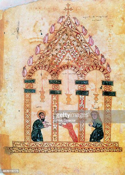 Presentation of Jesus at the Temple, 13th century. Jesus, with Joseph on the left and Mary on the right. From an Armenian manuscript of the Gospels.