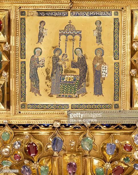 Presentation of Jesus at the temple Pala d'Oro altarpiece St Mark's Basilica Venice Goldsmith art Italy 12th14th century Detail