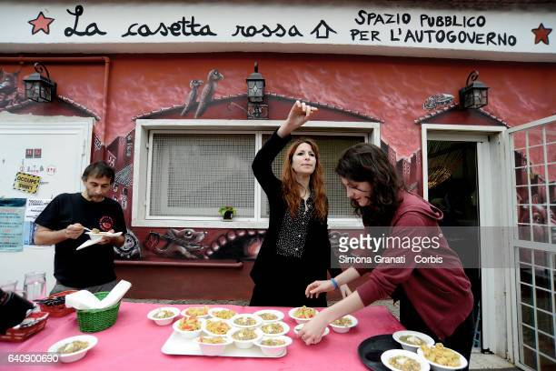 Presentation of Meal Suspended at Casetta Rossa in Garbatellaon February 2 2017 in Rome Italy The initiative promotes the possibility of leaving paid...