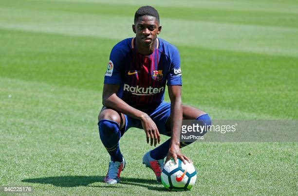 Presentation of Ousmane Dembele as new player of the FC Barcelona in Barcelona on August 28 2017