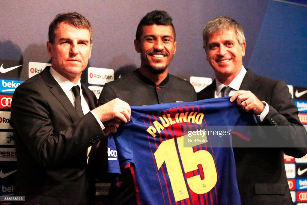 Presentation of Paulinho as new player of the FC Barcelona, in Barcelona, on August 17, 2017. Photo: JoanValls/Urbanandsport/Nurphoto --