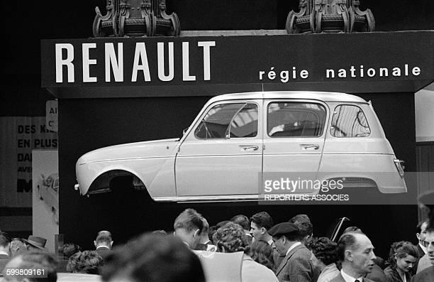 Presentation of Renault 4L at Paris Auto Show in Paris France on October 1961