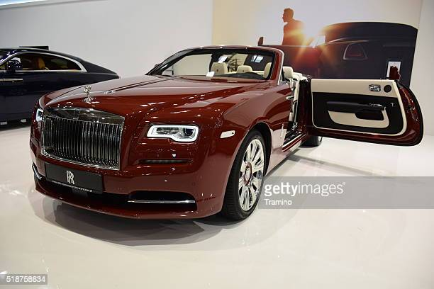presentation of rolls-royce dawn - rolls royce stock photos and pictures
