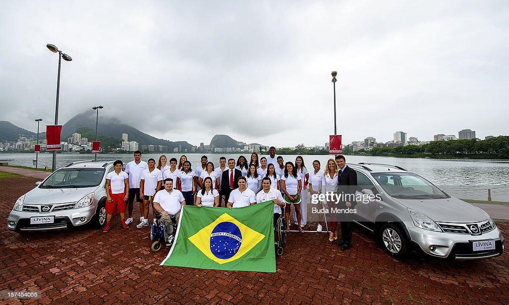 Presentation of Team Nissan for Rio de Janeiro Olympics Games 2016 at Cine Lagoon on November 27, 2012 in Rio de Janeiro, Brazil.