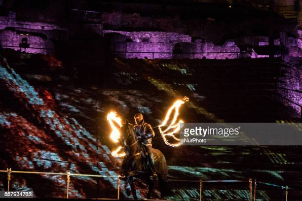 Presentation of the animations for the Fête des Lumières in Lyon France December 6 2017 A million people are expected in the city to discover the...
