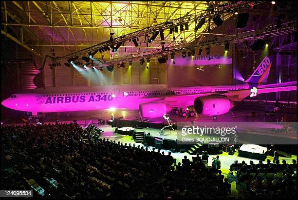 Presentation of the new Airbus A340 500/ 600 In Toulouse France On March 232001 Airbus celebrate the start of a new era in long distance travel with...