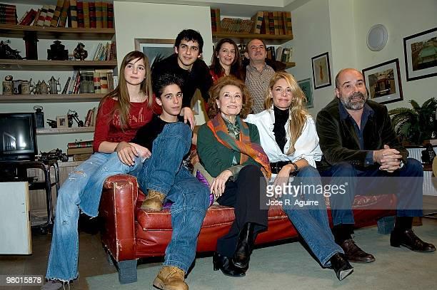Presentation of the new episodes of 'Los Serrano', TV serie in Spain. In the imagen: Natalia S·nchez, Fran Perea, Goizalde N?Òez, Jes?s Bonilla,...