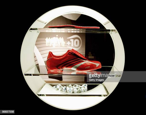 Presentation of the new F50 Tunit boot during the Major adidas F50 Tunit Launch Event on February 13 2006 in Munich