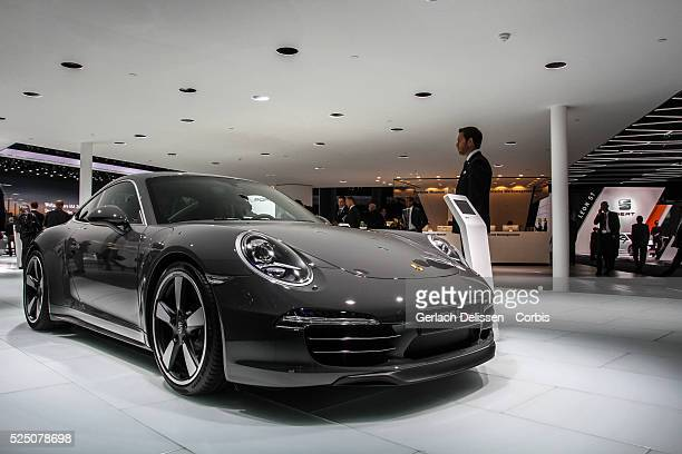 Presentation of the new Porsche 911 Anniversary Edition 50 years 911 as shown at the 65th IAA Frankfurt International Motor Show September 11 2013