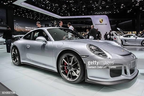 Presentation of the new Porsche 911 GT3 as shown at the 65th IAA Frankfurt International Motor Show September 11 2013