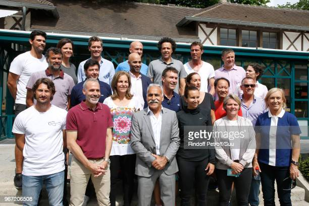 Presentation of the participants at the Trophee des Legendes 2018 Juan Carlos Ferrero Alex Corretja Arantxa Sanchez Mansour Bahrami Iva Majoli...