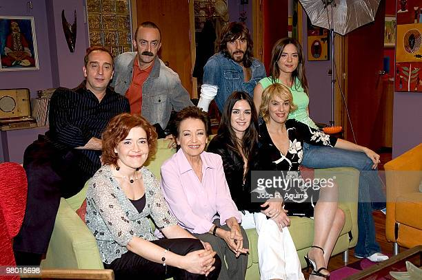 Presentation of the 'Siete Vidas' TV serie in Spain In the imagen the main characters Santi Rodríguez Gonzalo de Castro Santi Millán Eva Santolaria...
