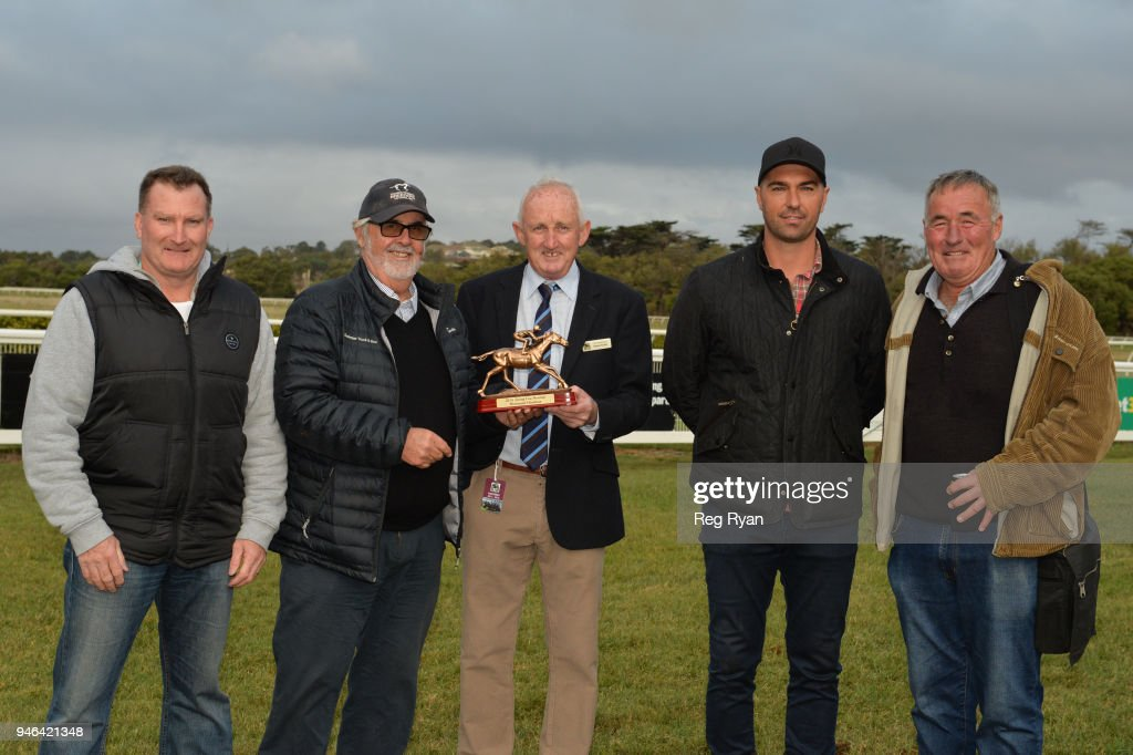Presentation of the Westmeath BM78 Handicap, at Terang Racecourse on April 15, 2018 in Terang, Australia.