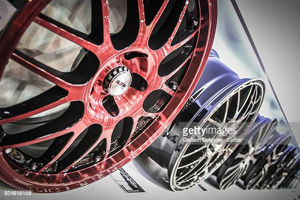 Presentation of wheel rims at the 2013 Essen Motor Show in Germany November 29th 2013
