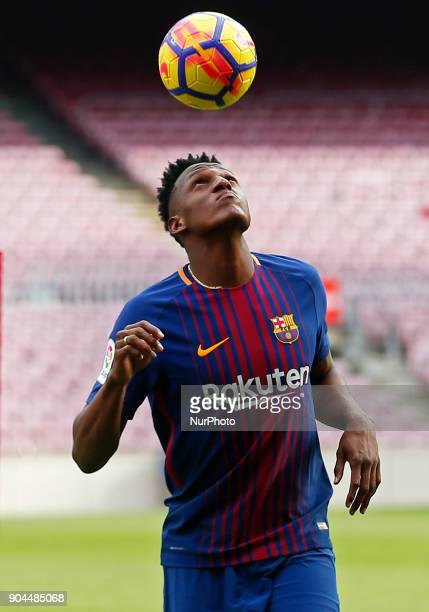 Presentation of Yerry Mina as a new player of FC Barcelona in Barcelona on January 13 2018