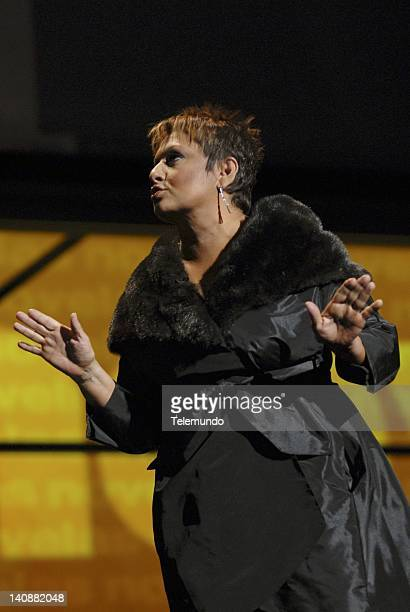 MAY 2007 Presentation Pictured Maria Antoineta Collins host of Cada Dia speaks at Telemundo Announcement Presentation event on May 15 2007 Photo by...